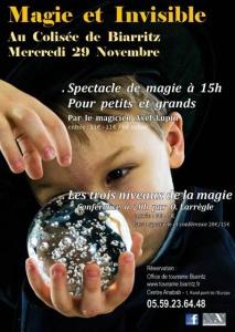 Conférence les trois niveaux de la magie par Olivier Larrègle au Colisée de Biarritz