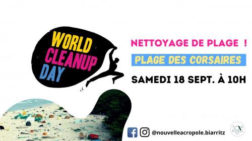 WORLD CLEAN-UP DAY : RDV à la plage des Corsaires !
